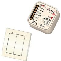 Bezdrátový vypínač + přijímač 2-kanálový Zamel RZB-04
