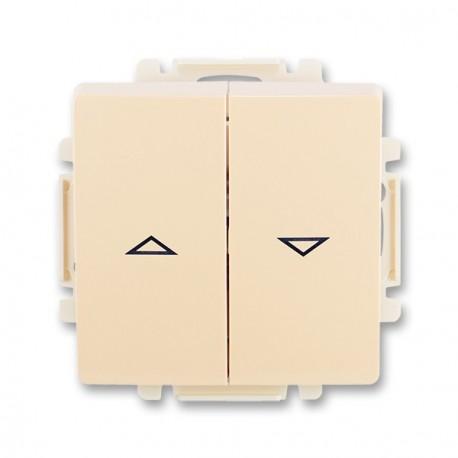 Ovlád.žaluz.jednopól. s krytem (1/0+1/0 s blokov.) ABB, 3557G-A88340 C1
