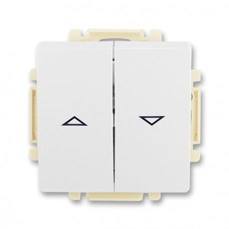 Spínač žaluziový 1-pól. s krytem (1+1 s blokov.) ABB, 3557G-A89340 B1