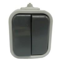 Venkovní vypínač IP44 na zeď č.5 šedý OPUS