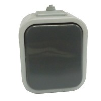 Venkovní vypínač IP44 na zeď č.6 šedý OPUS