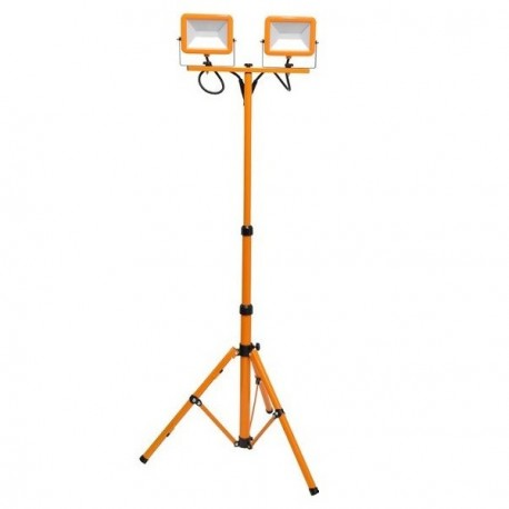 LED reflektor na stativu RMLED-2x30W přenosný, oranžový