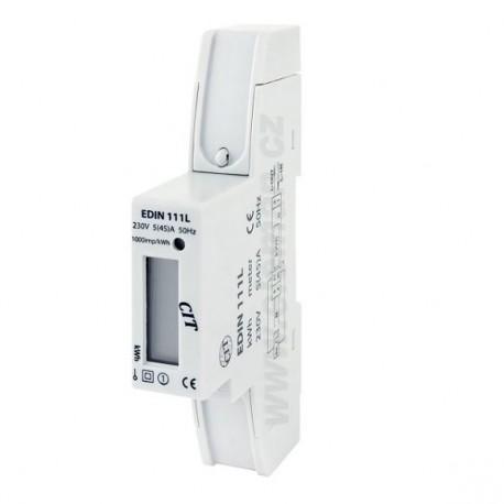 Elektroměr na DIN lištu EDIN 111L 45A jednofázový digitální