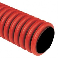 Ohebná dvouplášťová chránička 50mm červená KF 09050 BA