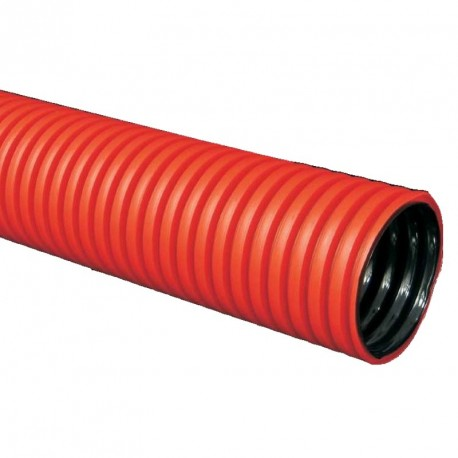 Ohebná dvouplášťová chránička 40mm červená KF 09040 BA