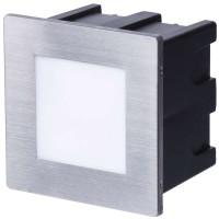 LED orientační vestavné svítidlo 80×80, 1,5W, IP65 teplá bílá