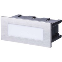 LED orientační vestavné svítidlo 123×53, 1,5W, IP65 neutrální bílá