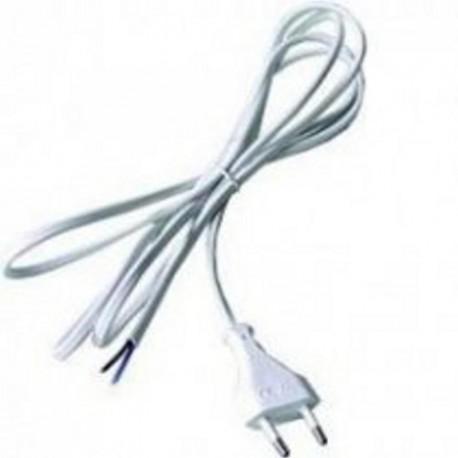 Flexo šňůra 2x0.75mm, 3m, bílá/PVC