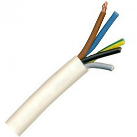 Kabel CYSY 5Cx1,5 kulatý bílý