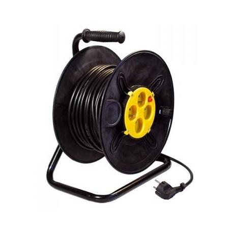 Prodlužovací kabel 50m na bubnu - 4 zásuvky