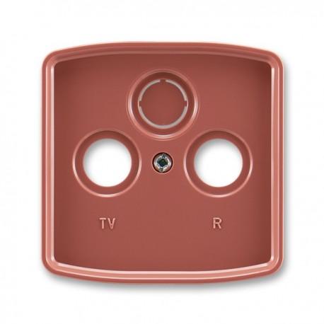 Kryt televizní zásuvky ABB Tango 5011A-A00300 R2 vřesově červený