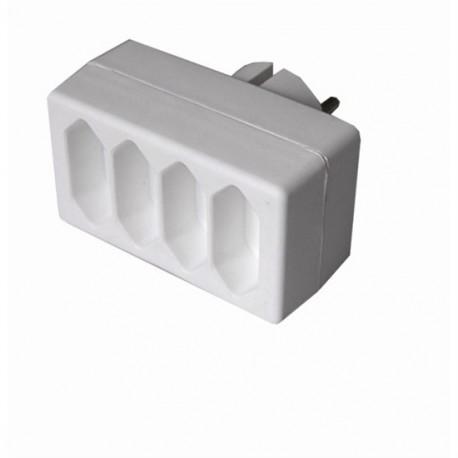 Solight rozbočka P82, 4 x 2,5A/230V, bílá