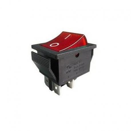 Vestavný podsvícený vypínač 31x22 - do prodlužovacích kabelů