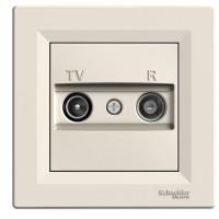 Zásuvka Asfora TV+R průběžná, krémová