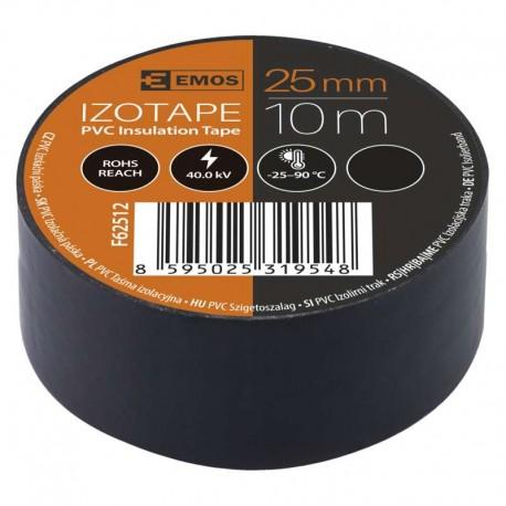 Izolační páska široká PVC 25x10 černá