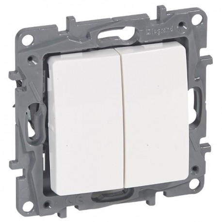 Vypínač Niloé č.5 sériový - lustrový, bílý