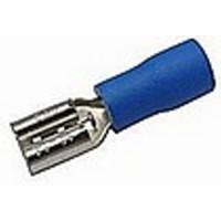 Faston zásuvka 6,3 mm modrá pro kabel 1,5-2,5 mm2