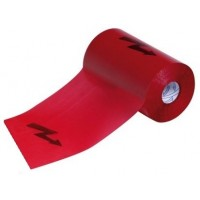 Výstražná fólie s bleskem 33/100 červená - 100m