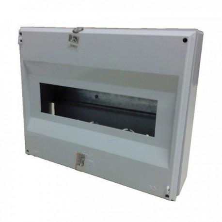 Kryt na jističe 10 - 12 modulů šedý