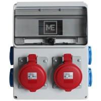 Stavební rozvaděč ESG 66035.40002 - 2x 32A 5P 400V, 4x 230V , IP54