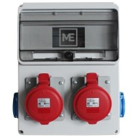 Stavební rozvaděč ESG 66033.20002 - 2x 32A 5P 400V, 2x 230V , IP54