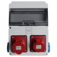 Stavební rozvaděč ESG 16978.21010 - 1x 16A 4P , 1x 32A 4P 400V, 2x 230V , IP54