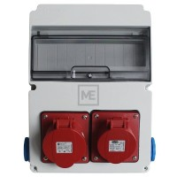 Stavební rozvaděč ESG 63519.20011 - 1x 16A 5P , 1x 32A 5P 400V, 2x 230V , IP54