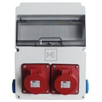 Stavební rozvaděč ESG 63519.20020 - 2x 16A 5P 400V, 2x 230V , IP54