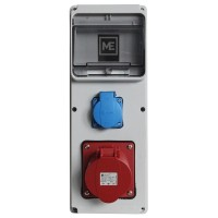 Stavební rozvaděč ESG 16985.10001 - 1x 32A 5P 400V, 1x 230V , IP54