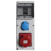 Stavební rozvaděč ESG 66011.10001 - 1x 32A 5P 400V, 1x 230V , IP54