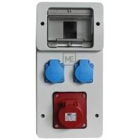 Stavební rozvaděč ESG 66005.21000 - 1x 16A 4P 400V, 2x 230V , IP54