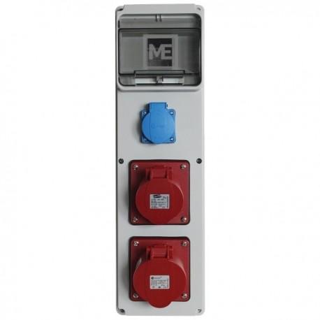 Stavební rozvaděč ESG 66012.10101- 1x 16A 5P, 1x 32A 5P 400V, 1x 230V , IP54