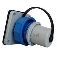 Vestavná vidlice přívodka 230V/16A IP68 prachotěsná