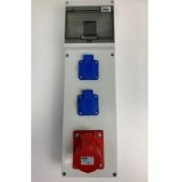 Stavební rozvaděč 66012.21000 - 1x 16A 4P 400V, 2x 230V , IP44