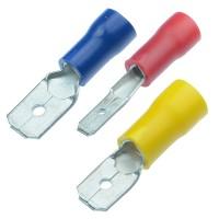 Faston-konektor 2,8 mm červený pro kabel 0,5-1,5mm2