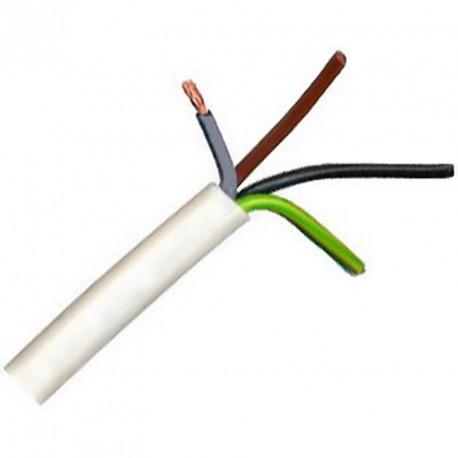 Kabel CYSY 4Bx2,5 kulatý bílý