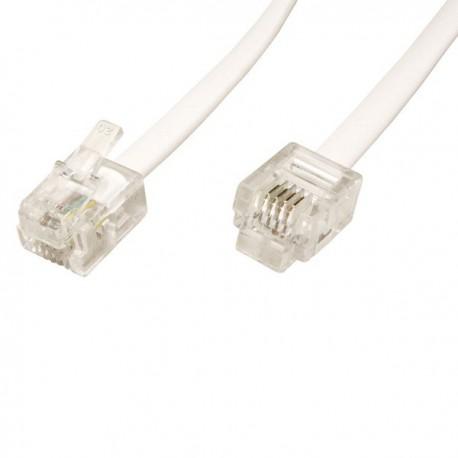 Telefonní propojovací kabel 3 m s koncovkami RJ11