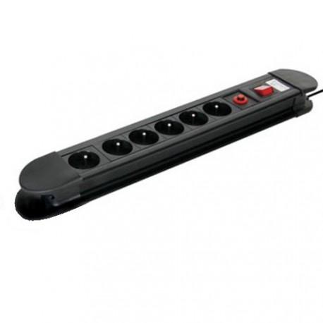Zásuvková lišta s ochranou proti přetížení, 6x230V/3500W