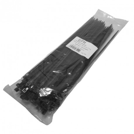 Stahovací páska 370 x 3,6 mm černá / 100ks