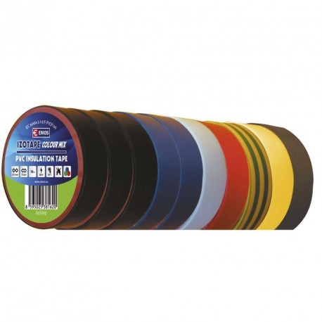 Izolační páska PVC 15x10 barevný mix 10ks