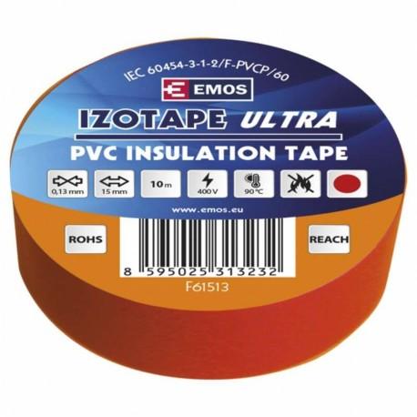 Izolační páska PVC 15x10 červená