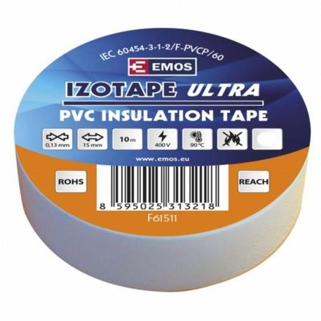 Izolační páska PVC 15x10 bílá