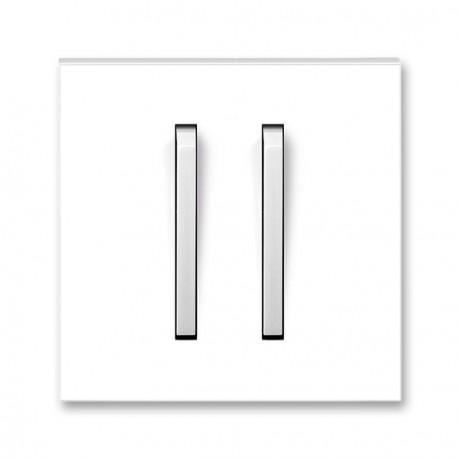 Kryt jednoduchý s dvěma páčkami NEO bílá/led. bílá ABB, 3559M-A00652 01
