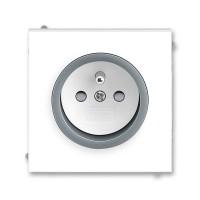 Zásuvka 1-násobná s ochranným kolíkem, s clonkami ABB, 5519M-A02357 44
