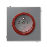 Zásuvka 1-násobná s ochranným kolíkem, s clonkami ABB, 5519M-A02357 71