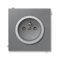 Zásuvka 1-násobná s ochranným kolíkem, s clonkami ABB, 5519M-A02357 73